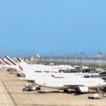 Vliegtuigen op vliegbasis Charles De Gaulle
